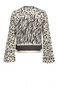 SHOPPING ON LINE PINKO BLUSA MIX ANIMALIER DEGRADÈ CRESPELLA NEW COLLECTION  WOMEN'S SPRING SUMMER 2020