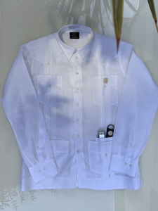 Guayabera Capital 100% lino blanco