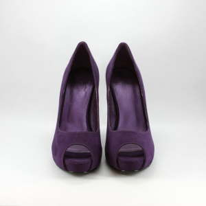 Scarpa cerimonia donna décolleté in ecopelle scamosciata color viola spuntata Scheilan Art. SC142/H