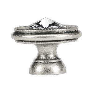 Pomello argento antico Swarovski