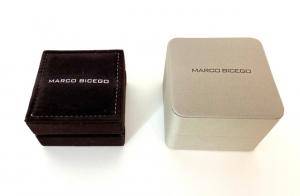 ANELLO HAVANA MARCO BICEGO IN ORO BIANCO 18KT CON TRE FILE DI BRILLANTI