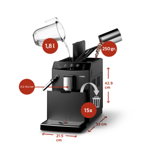 Philips 3000 series 4 bevande, macchine da caffè completamente automatiche