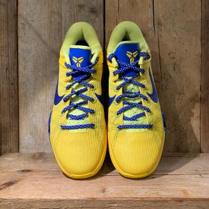 Scarpa Nike Zoom Kobe VII System Barcelona Gialla e Blu