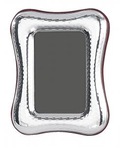 Cornice portafoto piccola in argento sagomata 4x6 stile Martellato cm.6x4