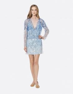 Minidress in tulle con paillettes Alberta Ferretti