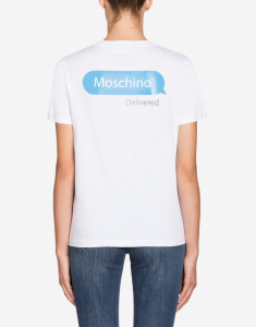 T-shirt in jersey Chat moschino