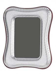 Cornice portafoto piccola in aregnto sagomata 4x6 stile Millerighe cm.6x4