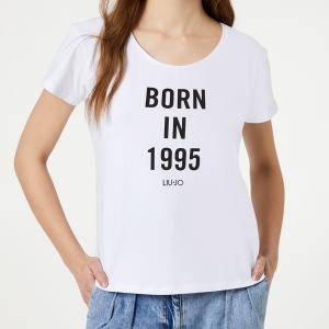 Borsa a tracolla Liu Jo BORN 1995 AA0301 E0002 NERO + T-Shirt T.U.