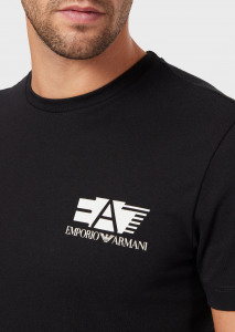 T-shirt uomo ARMANI EA7 con logo effetto stencil