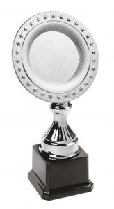 Trofeo piatto con stelle cm.6x6x24,5h