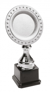 Trofeo piatto con stelle cm.8x8x32h