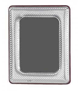 Cornice portafoto piccola in argento 4x6 stile Millerighe cm.6x4