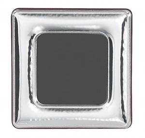 Cornice portafoto quadrata piccola in argento 6x6 stile Martellato cm.6x6