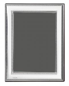 Cornice portafoto in argento 9x13 stile Perles cm.13x9