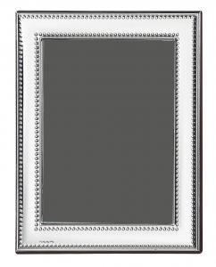Cornice portafoto in argento 10x15 stile Perles cm.15x10
