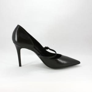 Scarpa donna elegante da cerimonia in pelle con cinghietta regolabile.