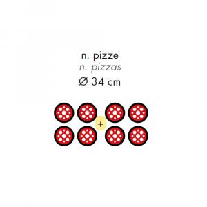 Forno Pizza Professionale GAM FOX44 - 4+4 x Ø 34 cm