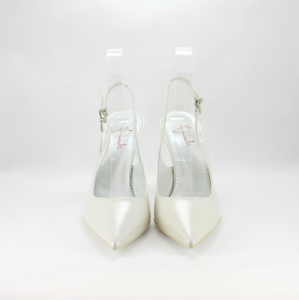 Scarpa cerimonia donna da sposa in pelle color bianco.