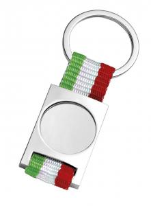 Portachiavi bandiera italiana con incavo cm.3,5x9x0,5h