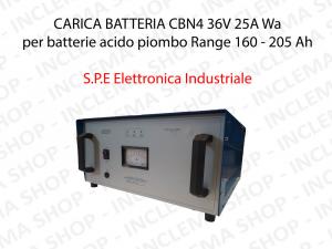 CARICA BATTERIA CBN4 36V 25A Wa Wa per batterie acido piombo Range 205 - 260 Ah (Ciclo 5 ore) - S.P.E