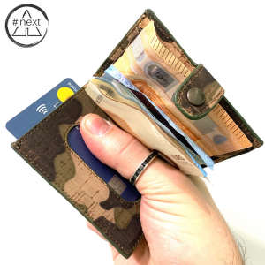 Kjøre Project - Como Cork iClutch + Coins - Sughero camouflage