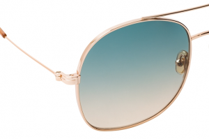 Tom Ford - Occhiale da Sole Donna, Shiny Rose Gold/Green Shaded FT0758 (28P)  C58