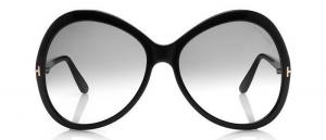 Tom Ford - Occhiale da Sole Donna, Matte Black/Grey Shaded FT0765 (01B)  C63