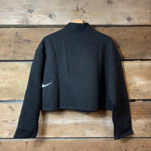 Felpa Nike Sportswear in Tessuto Puntinato Nero