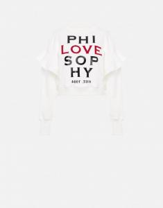 Felpa in cotone phi-love-sophy