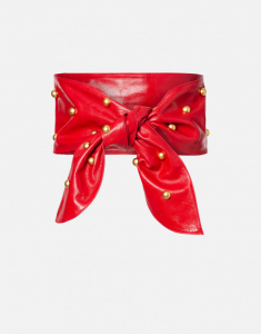 Fusciacca in nappa rossa con borchie PHILOSOPHY