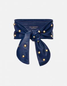Fusciacca in nappa blu con borchie PHILOSOPHY