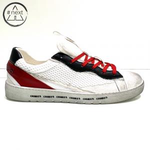 CROMIER - Sneakers Tecno nappa - bianco, rosso.