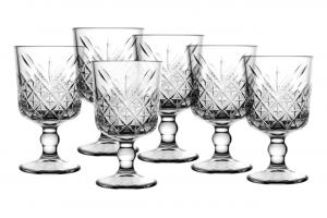 Timeless Confezione 6 Calici Liquore, Vetro, Trasparente, cl 6