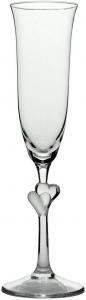 Set di 2 calici da Champagne L'Amour, con Cuore Satinato, 175 ml
