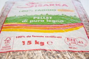 Pellet Sisarka 100% Faggio sacchi da 15 kg