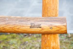 Staccionata in castagno scortecciato H 150 cm
