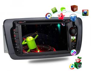 ANDROID autoradio 2 DIN navigatore per Seat Ibiza 2009 2010 2011 2012 2013 GPS DVD WI-FI Bluetooth MirrorLink