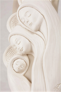 Bassorilievo Sacra Famiglia Bianco Luna 4762B 24x9 cm