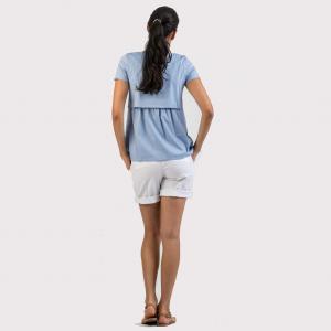 Pantaloni corti premaman bianco