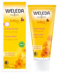 WELEDA BABY CALENDULA CREMA VISO - SOFFICE CREMA CHE SI PRENDE CURA DEL VISO DEL BAMBINO