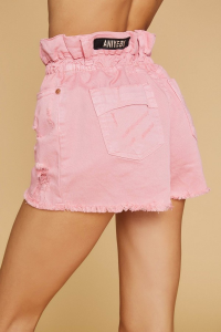 SHOPPING ON LINE ANIEY BY SHORT RUFFLE COLORI BIANCO E ROSA NEW COLLECTION WOMEN'S SPRING SUMMER 2020