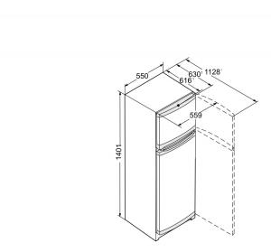 Liebherr CT 2531 frigorifero con congelatore Libera installazione Bianco 233 L A++