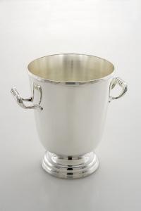 Secchiello champagne con base placcato argento cm.26h diam.20