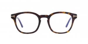 Tom Ford - Occhiale da Vista Uomo con Clip On da Sole, Dark Havana Square/Matte Brown Shaded FT5532-B  52E  C49