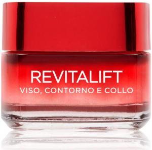 L'Oréal Paris Trattamenti Revitalift Crema Viso Antirughe Contorno e Collo Rimagliante Anti-Rughe e Rassodante, con Pro-Retinolo Avanzato, 50 ml