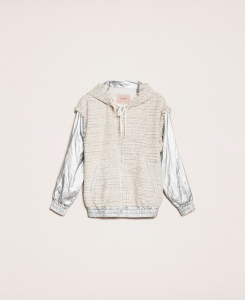 SHOPPING ON LINE TWINSET MILANO BOMBER LAMINATO CON TESSUTO BOUCLE NEW COLLECTION  WOMEN'S SPRING SUMMER 2020