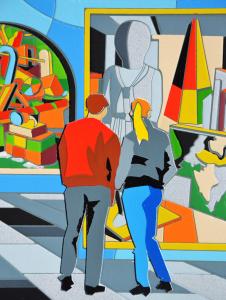 UGO NESPOLO Museo metafisico formato cm 35x100
