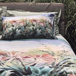 Double duvet cover and percale pillowcases FAZZINI Secret Garden