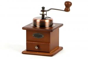 Macina caffè manuale in legno di faggio e acciaio inox cm.12,5x12,5x16h