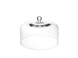 Cupola cloche campana grande maxi in vetro trasparente cm.24h diam.35,4